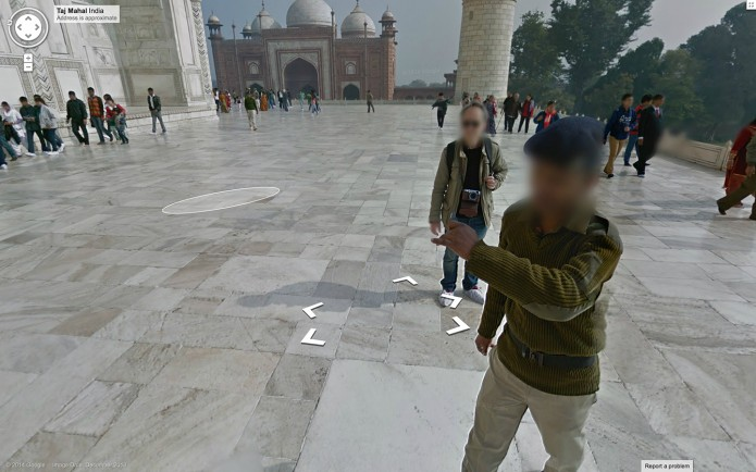Taj Mahal on Google Street View